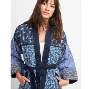 Gap quilted cotton floral kimono jacket